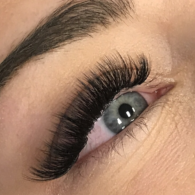 93bddb372fa Using ultra-light lashes, multiple lashes are applied to each natural lash  creating the ultimate set of full, fluffy, dramatic eyelash extensions.  Mascara ...